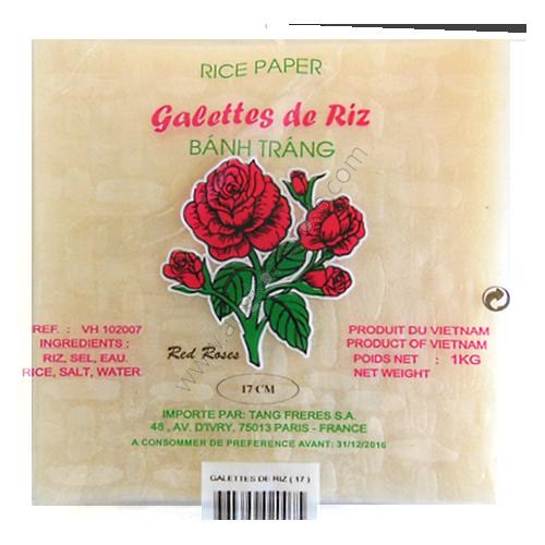 GALETTE DE RIZ 17 CM CARRE