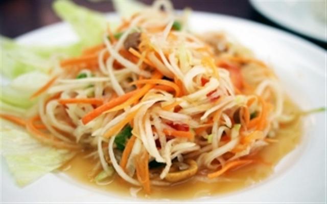 recette de la salade de papaye verte